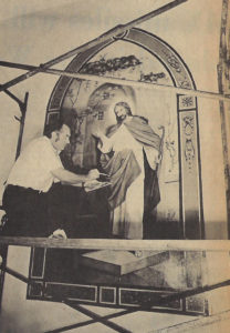 Allen Hermansader restoring church art