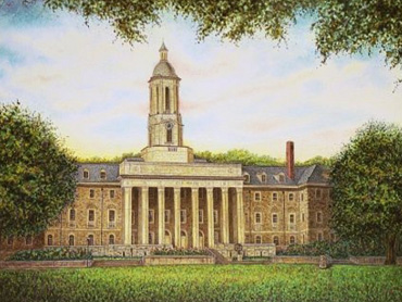 Painting of university